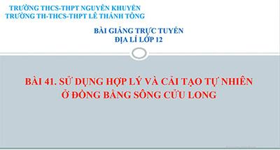 Bài 41: Đồng bằng sông Cửu Long