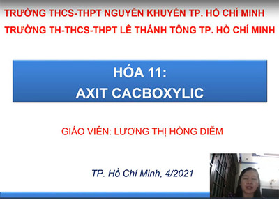 Bài 45 : Axit cacboxylic
