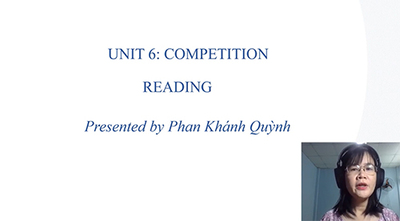 Unit 6: Competitions: Reading, Listening